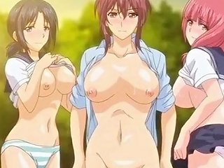 YourLust Porno - Super Juicy Anime Gals Get Their Wet Slits Fucked In The Forest