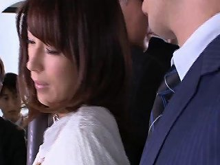 AnyPorn Porno - Busty Japanese Pornstar Gets Fondled On The Bus Before A Any Porn