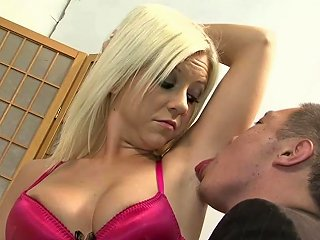 BravoTeens Porno - Blonde Hooker Sucking Cock And Balls After Getting Her Armpit Licked