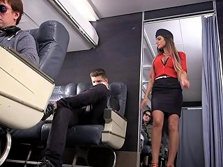 AnyPorn Porno - Leggy August Ames Plays A Naughty Stewardess That Loves Dick Any Porn