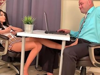 PornHub Porno - Sexy Footjob Under Table For Pay Rise